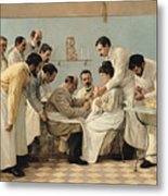The Insertion Of A Tube Metal Print by Georges Chicotot