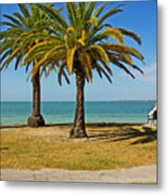 The Joy Of Sea And Palms Metal Print