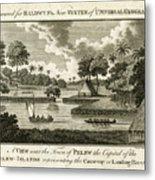 The Landing Place At Palau Metal Print