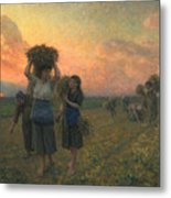 The Last Gleanings Metal Print by Jules Breton