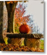 The Last Pumpkin Metal Print