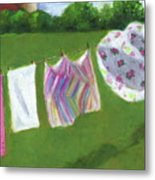 The Laundry On The Line Metal Print