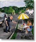The Lemonade Stand Metal Print