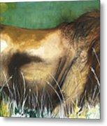 The Lion Metal Print by Anthony Burks Sr