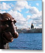 The Lion Which Remembers Much Metal Print