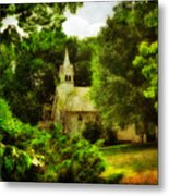 The Little Church On The Corner Metal Print