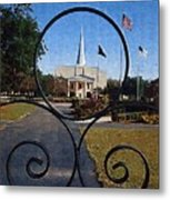 The Little Framed Church Metal Print