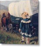 The Little Pioneer Western Art Metal Print