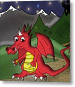 The Little Red Dragon Metal Print