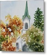 The Little White Church Metal Print by Bobbi Price