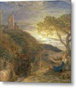 The Lonely Tower Metal Print by Samuel Palmer