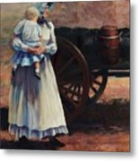 The Long Walk   Pioneers Traveling Westward Metal Print