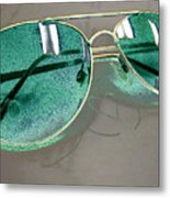 The Look Of Green Metal Print