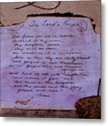 The Lord's Prayer Collage Metal Print