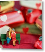 The Lovers In Valentine's Day Metal Print