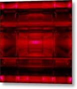 The Machine Red Metal Print
