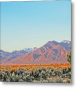 The Magic Light Of Taos  Metal Print