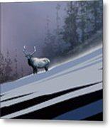 The Magnificent Elk Metal Print
