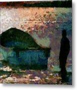 The Man And His Fishing Boat Metal Print