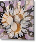 The Many Goddess Mandala Metal Print