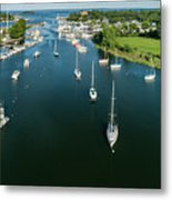 The Marina In Mamaroneck Metal Print