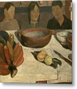 The Meal Metal Print by Paul Gauguin