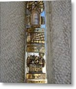 The Mezuzah At The Entry To The Kotel Plaza Metal Print