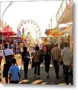 The Midway Stroll Metal Print