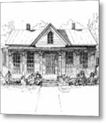 The Moore House Metal Print