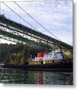The New Tacoma Narrows Bridge - Crowley Tug Metal Print