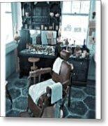 The Old American Barbershop Metal Print