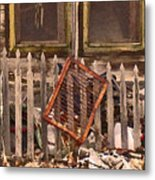 The Old Cooper House Front Grate Metal Print