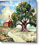 The Old Oak Church Metal Print