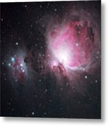 The Orion And The Running Man Nebulae Metal Print
