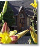 The Parish House With Lilys Metal Print