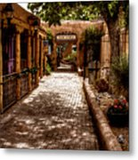 The Patio Market Metal Print by David Patterson