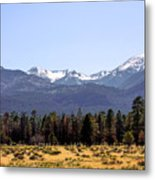 The Peaks - Where Earth Meets Heaven Metal Print by Christine Till