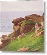 The Pet Lamb Metal Print by J Hardwicke Lewis