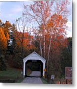The Phillips Covered Bridge Metal Print