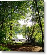 The Picnic Table Metal Print