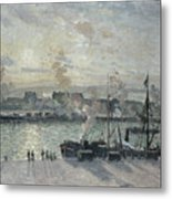 The Port Of Rouen Metal Print