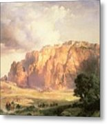 The Pueblo Of Acoma In New Mexico Metal Print by Thomas Moran