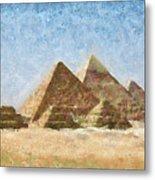 The Pyramids Of Giza Metal Print