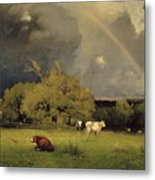 The Rainbow Metal Print by George Inness Senior