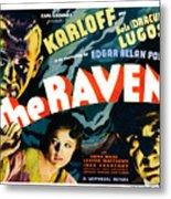 The Raven, From Left Boris Karloff Metal Print by Everett