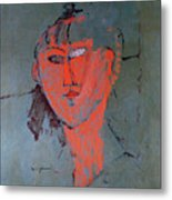 The Red Head Metal Print