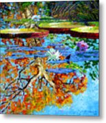 The Reflections Of Fall Metal Print
