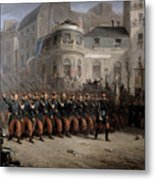 The Return Of The Troops To Paris From The Crimea Metal Print by Emmanuel Masse