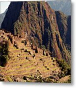 The Ruins Of Machu Picchu, Peru, Latin America Metal Print