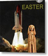 The Scream World Tour Space Shuttle Happy Easter Metal Print
